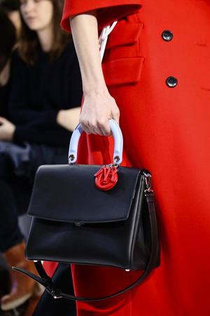 Черная модная сумка осень-зима 2014-2015 с ручкой другого цвета – фото Christian Dior