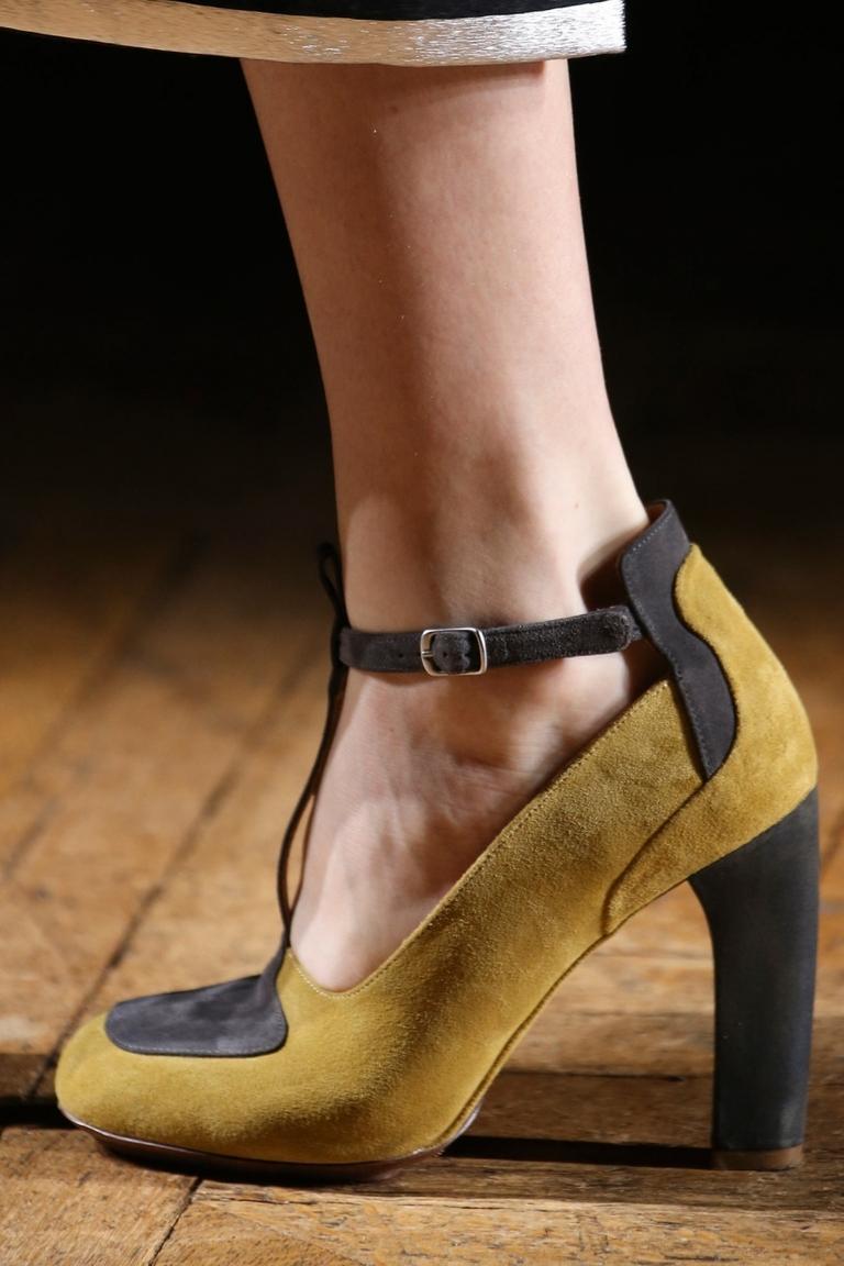 Модные туфли с толстым каблуком 2015 – Dries Van Noten