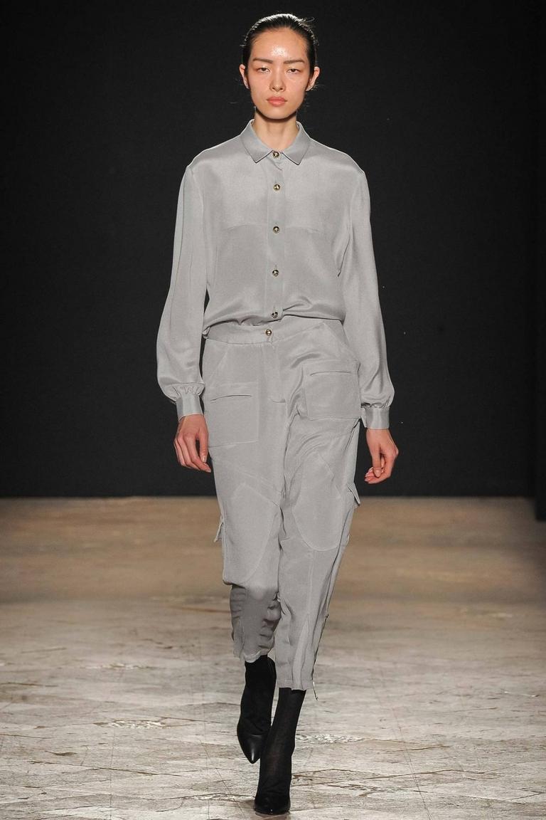 Модная серая рубашка 2015 Francesco Scognamiglio