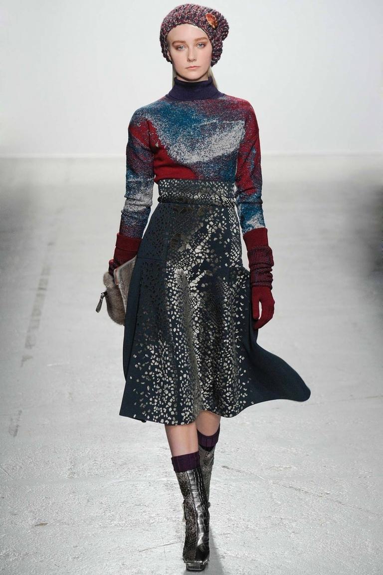 Фото модной юбки 2015 с «пятнистым» принтом – фото новинка в коллекции John Galliano