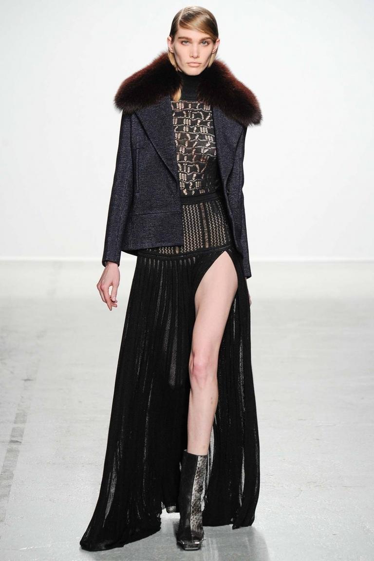 Модная юбка 2015 с разрезом – фото новинка в коллекции John Galliano