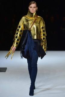 Кожаная куртка золотого цвета осень-зима 2014-2015 – Just Cavalli