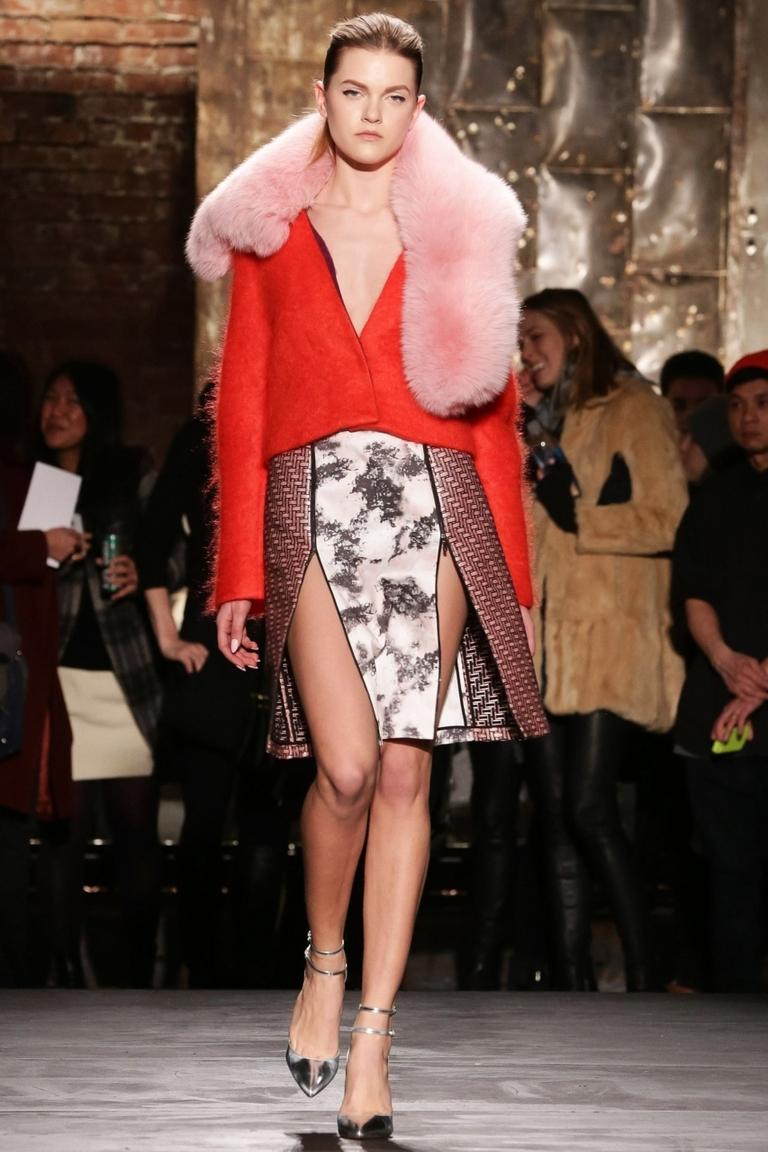 Длинная модная юбка 2015 с разрезом – фото новинка в коллекции Kaelen