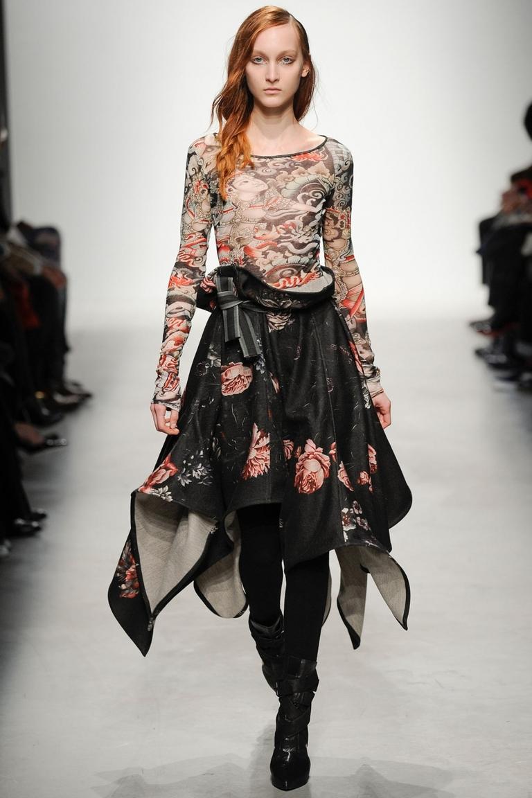 Фото модной юбки 2015 со складками и неровным краем – Leonard
