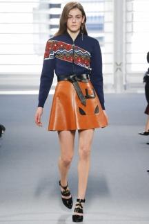 Модная оранжевая юбка осень-зима 2014-2015 - Louis Vuitton