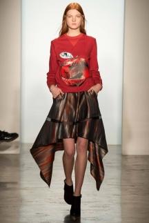 Стильная кофта с рисунком в сочетании с модной юбкой 2015 – Ostwald Helgason