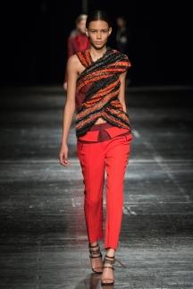 Модные оранжевые брюки осень-зима 2014-2015 - Prabal Gurung