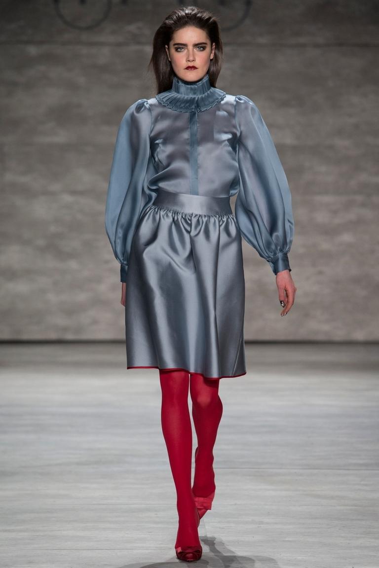 Модная женская рубашка 2015 с воздушным рукавом – фото новинка от Ruffian