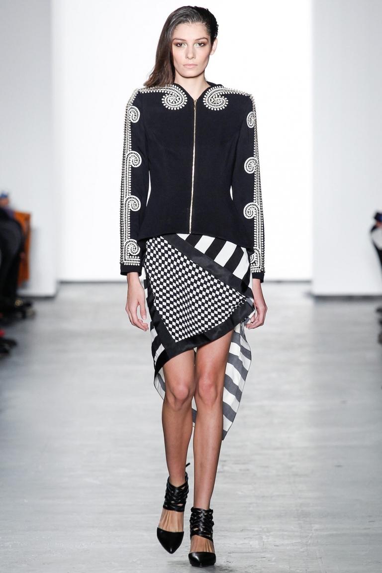 Модная юбка 2015 в полоску с неровным краем – фото новинка в коллекции Sass & Bide