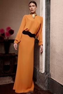 Модное оранжевое платье осень-зима 2014-2015 – Agnona