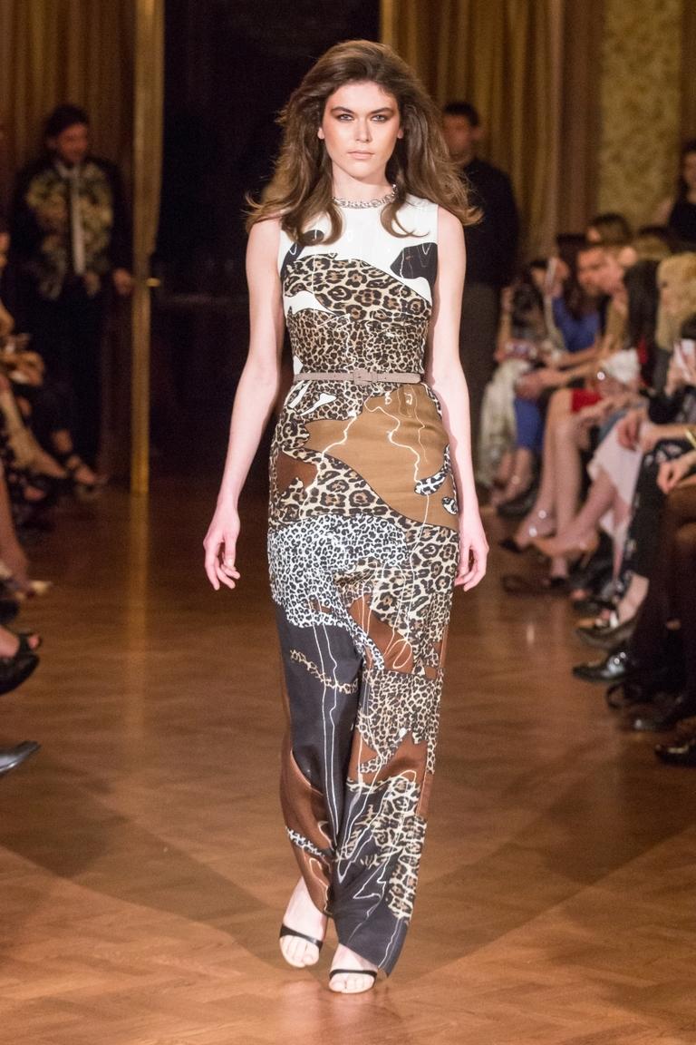 Леопардовое платье в коллекции Alexander Terekhov