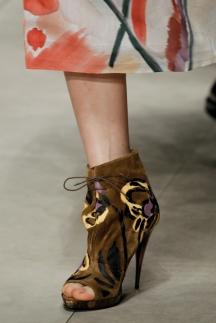 Модные туфли ботильоны осень-зима 2014-2015 – Burberry Prorsum