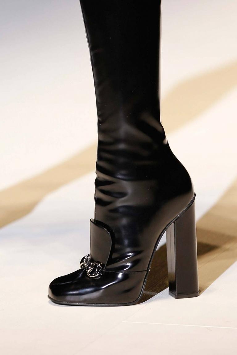 Черные модные сапоги 2015 – фото новинка Gucci