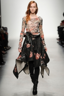 Модная юбка с рваными краями – мода осень-зима 2014-2015 – Leonard