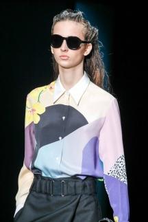 Рубашка модная в сезоне осень-зима 2014-2015 с геометрическим узором – Phillip Lim
