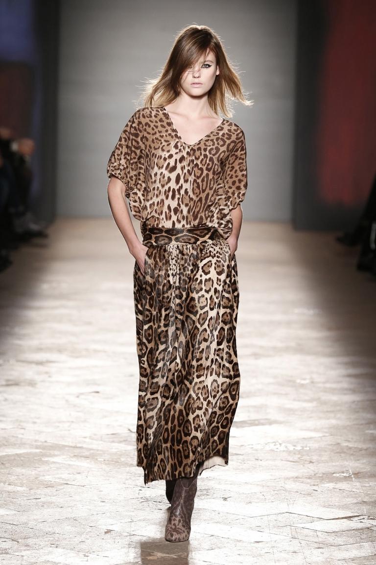 Леопардовая юбка и блузка – фото новинка в коллекции Simonetta Ravizza