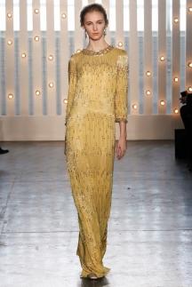 Модное длинное платье с длинными рукавами осень-зима 2014-2015 – Jenny Packham