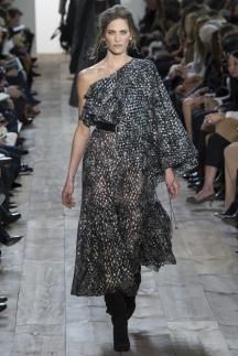 Модное длинное платье на одно плечо осень-зима 2014-2015 – Michael Kors