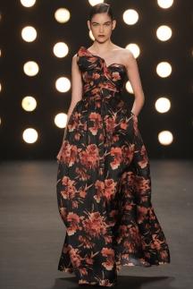 Модное длинное платье осень зима 2014-2015 с цветочным принтом – Naeem Khan