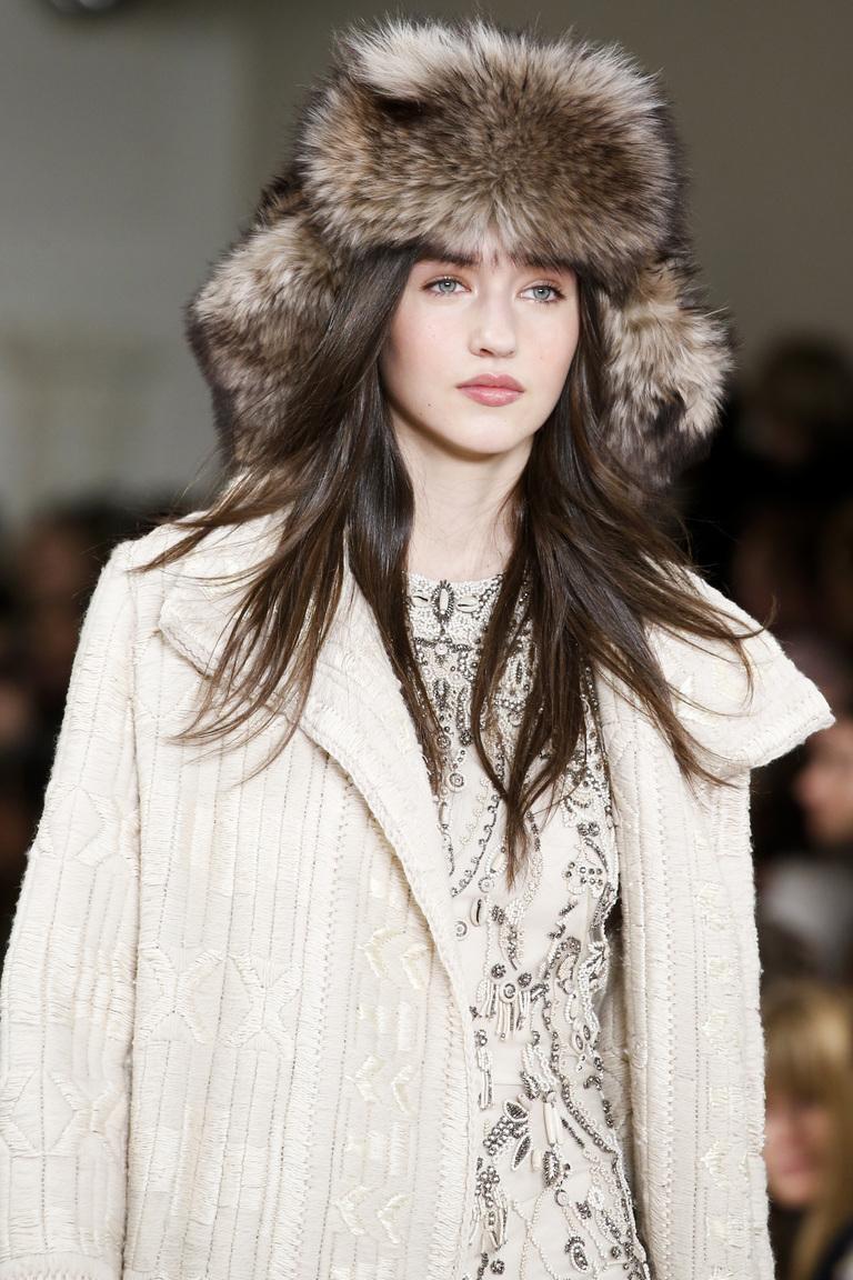 Модная женская шапка ушанка – фото новинка от Ralph Lauren