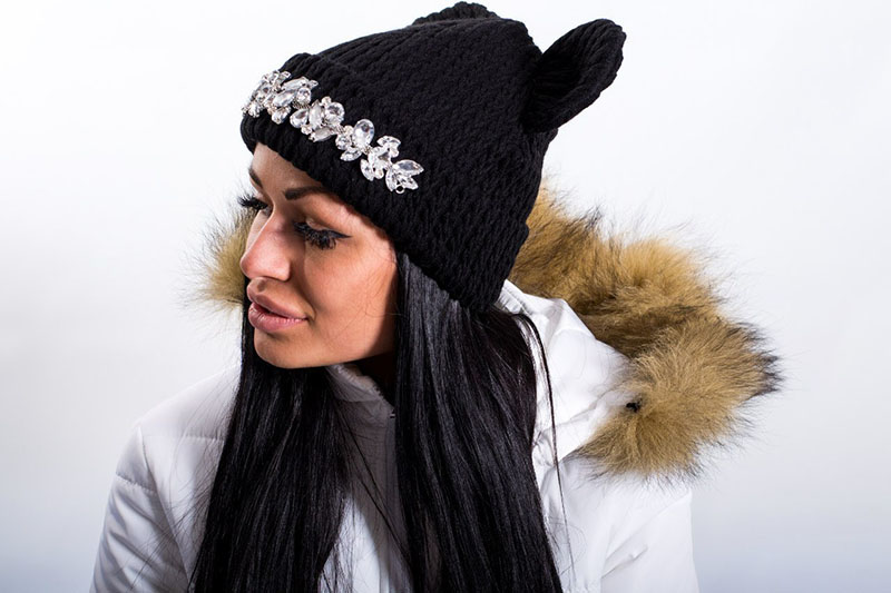 Модная шапка с ушками – фото новинка сезона