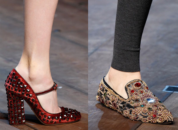 Модная обувь 2015 с декором – Dolce & Gabbana