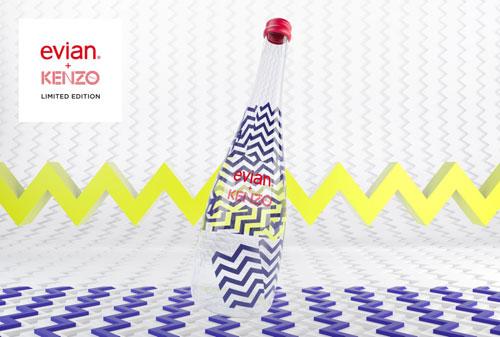evian  совместно с французским домом моды Kenzo выпустили ограниченную серию бутылок