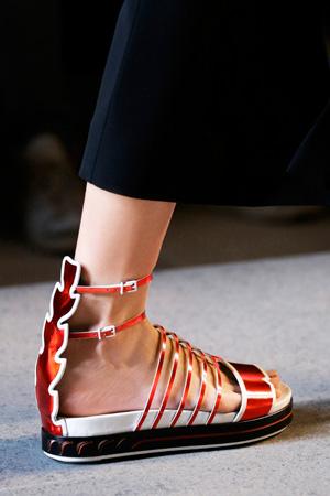 Модные туфли босоножки весна лето 2015 от Fendi