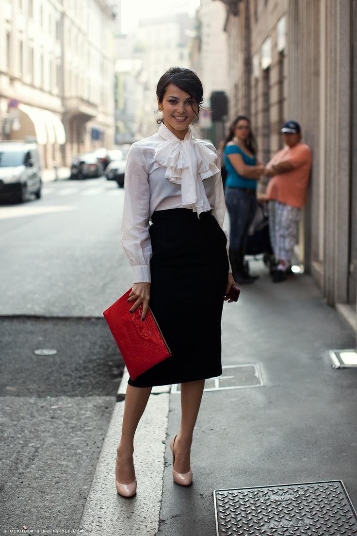 Фото девушка юбка карандаш стиль