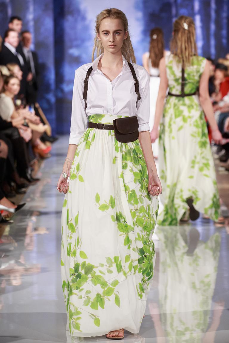 Длинная модная юбка весна лето с белой рубашкой – A LA RUSSE Anastasia Romantsova