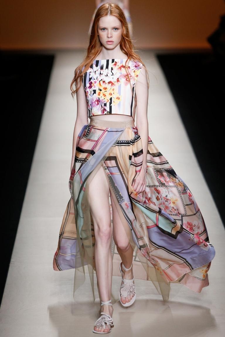 Длинная юбка с разрезом весна лето – фото новинка от Alberta Ferretti