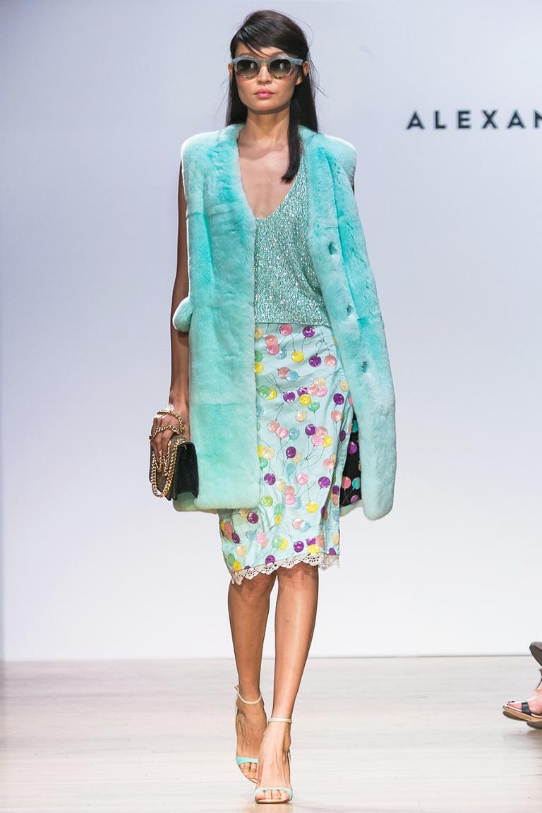 Модная короткая юбка с веселым принтом шарики Alexander Terekhov
