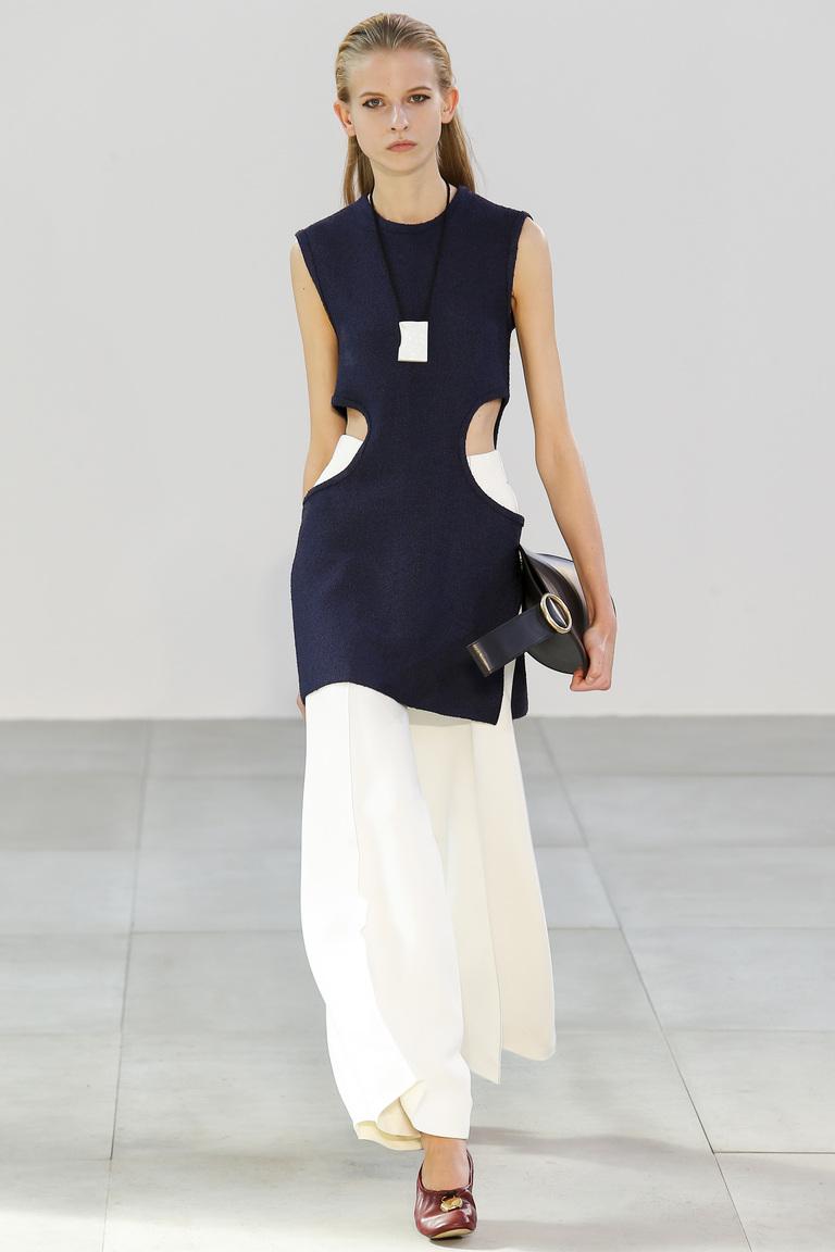 Длинная белая юбка – Céline с длинным топом