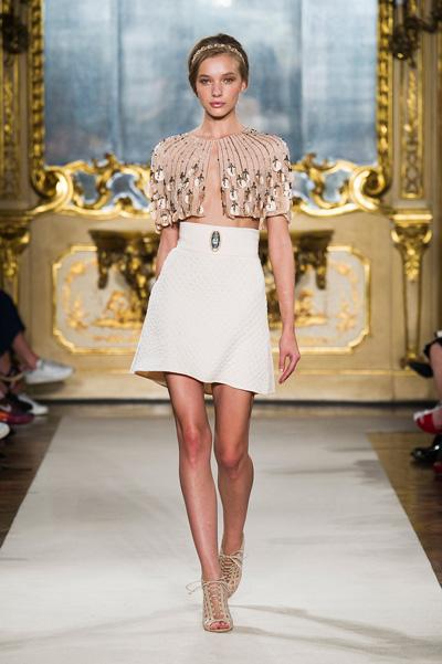 топ с широкой юбкой Elisabetta Franchi - модные тенденции 2015