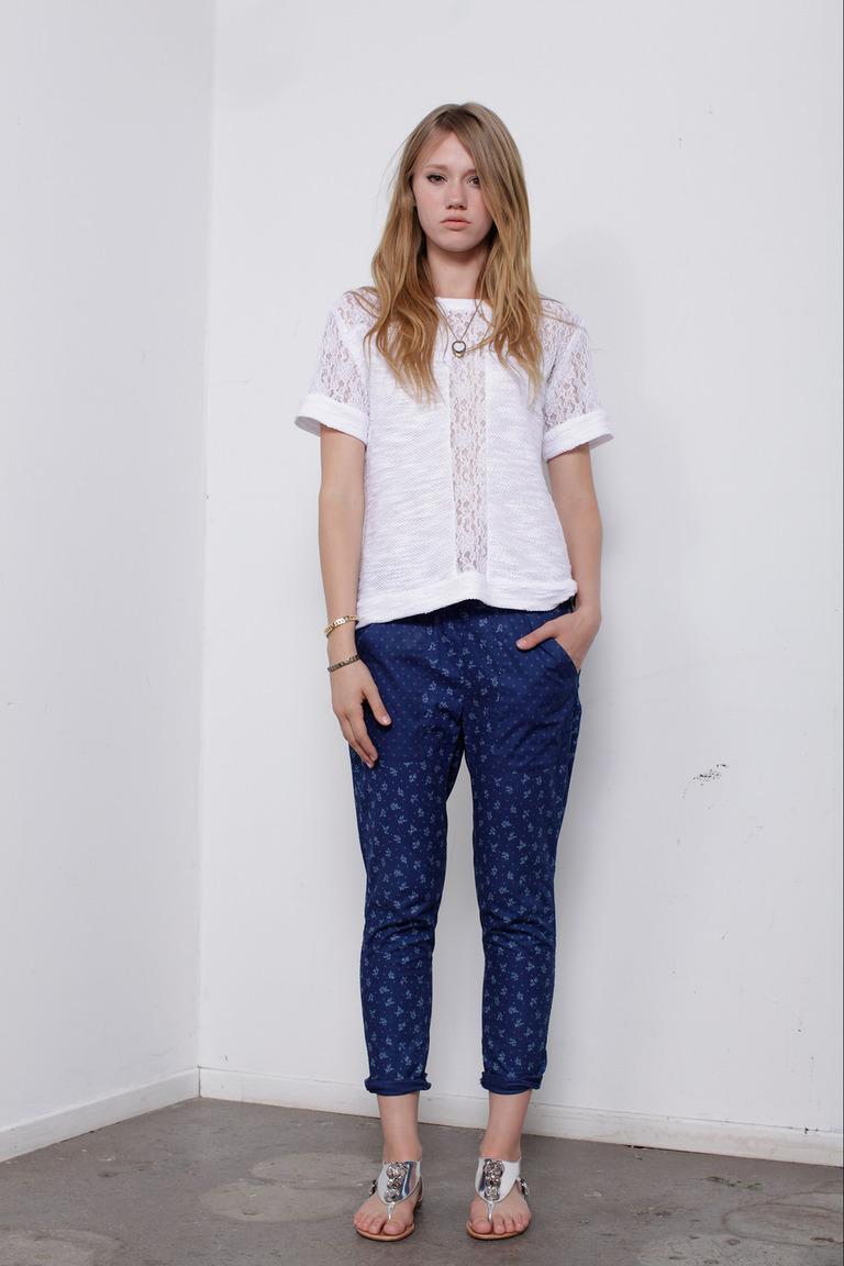 Модная блузка весна лето с кружевной отделкой – Wren