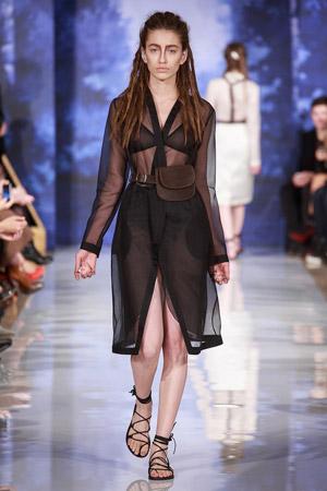 Полупрозрачное модное платье весна лето 2015 – A LA RUSSE Anastasia Romantsova