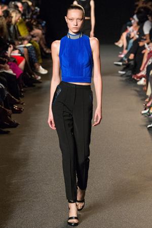 Модная синяя футболка весна лето 2015 – Alexander Wang