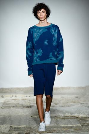 Синяя мужская кофта с модными шортами мужская мода 2015 – Baja East