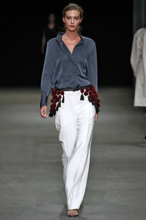 Белые модные брюки весна лето 2015 - By Malene Birger