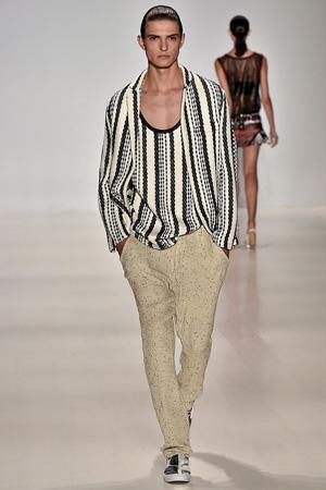Полосатый мужской пиджак с кофтой – Custo Barcelona