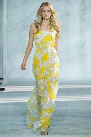 Мода весна лето 2015 – длинное платье Diane von Furstenberg