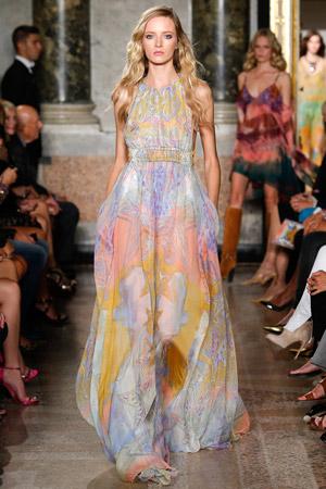 Струящееся длинное платье весна лето 2015 - Emilio Pucci
