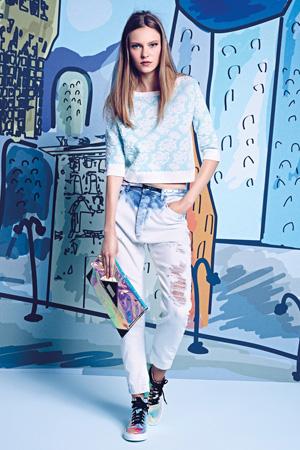 Широкие модные джинсы весна лето 2015 - Patrizia Pepe