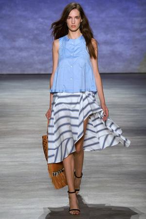 Голубая модная летняя рубашка весна лето 2015 – Rebecca Minkoff
