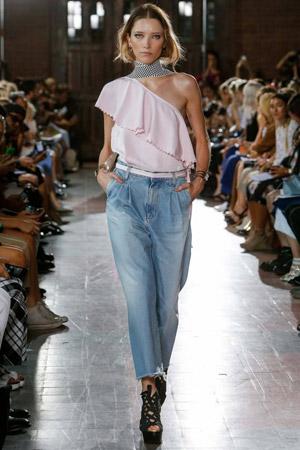 Широкие модные джинсы весна лето 2015 – Rodebjer