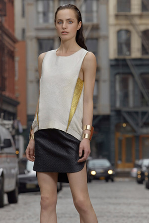 Длинная футболка мода весна лето 2015 - SB47