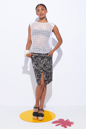 Прозрачный топ Whit мода весна лето 2015