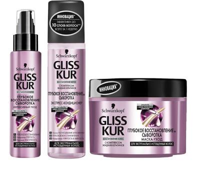 Gliss Kur: амино-протеиновая сыворотка для глубокого восстановления волос