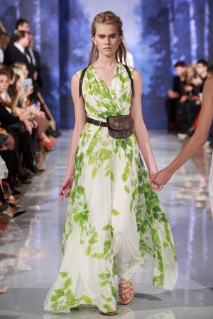 Длинное платье с растительным принтом – коллекция A LA RUSSE Anastasia Romantsova весна лето 2015