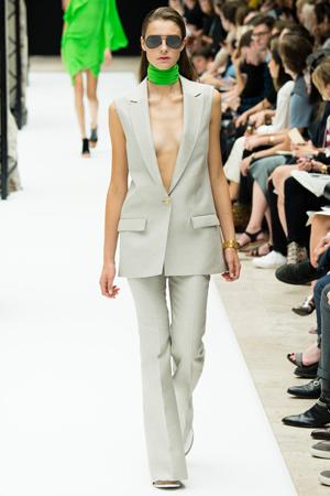 Длинный серый пиджак с модными брюками 2015 – Acne Studios
